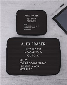 gifts: Personalised Just In Case Tablet or Laptop Sleeve!
