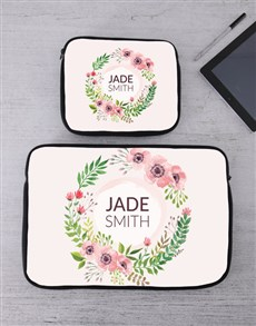 gifts: Personalised Floral Wonder Tablet or Laptop Sleeve!