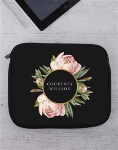 gifts: Personalised Peony Tablet or Laptop Sleeve!