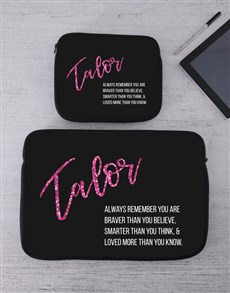 gifts: Personalised Remember Tablet or Laptop Sleeve!