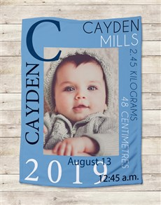 gifts: Personalised Baby Boy Name Blanket!