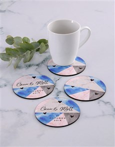 gifts: Personalised Geometric Coaster Set!