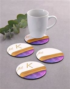 gifts: Personalised Modern Coaster Set!