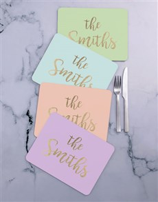 gifts: Personalised Family Name Placemat Set!