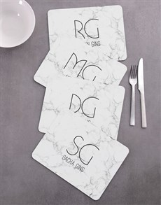 gifts: Personalised Marble Placemat Set!