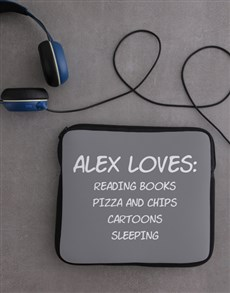 gifts: Personalised Neoprene Favourites Tablet Cover!