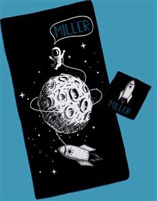 gifts: Personalised Moon Landing Towel Set!