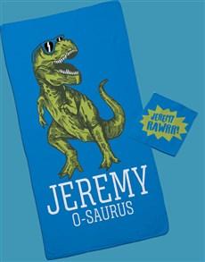 gifts: Personalised Saurus Towel Set!