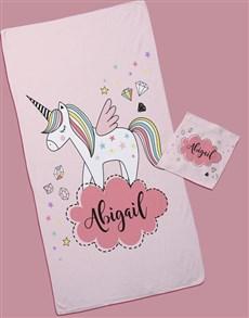 gifts: Personalised Unicorn Towel Set!