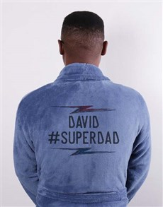 gifts: Personalised Super Dad Blue Gown!