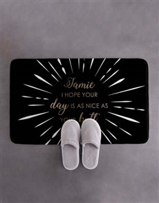 gifts: Personalised Nice Butt Bath Mat!