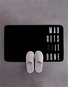 gifts: Personalised Gets It Done Bath Mat!