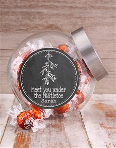 gifts: Personalised Under the Mistletoe Candy Jar!