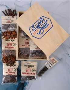 gifts: Personalised Super Duper Dad Biltong Crate!