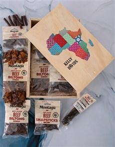 gifts: Personalised Taste Of Africa Biltong Crate!