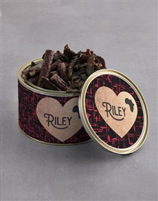 gifts: Personalised Love Africa Biltong Tin!