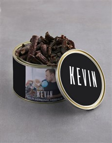 gifts: Personalised Biltong Tin With Chocs!