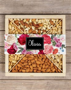 gifts: Personalised Nut Crate In Bloom!