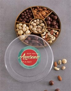 gifts: Personalised Awesome Dad Nut Tray!