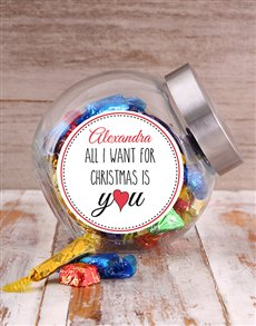 gifts: Personalised All I Want For Christmas Candy Jar!