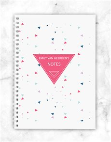 gifts: Personalised Triangle Notebook!