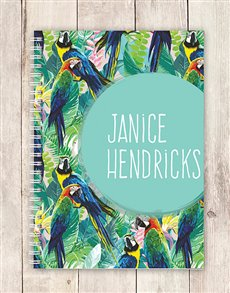 gifts: Personalised Parrot Notebook!