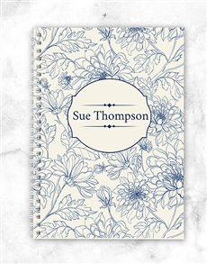 gifts: Personalised Floral Notebook!