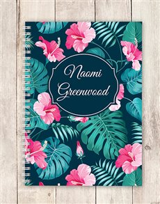 gifts: Personalised Tropical Notebook!