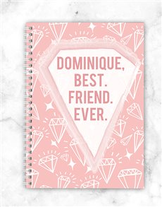 gifts: Personalised Gem Best Friend  Notebook!