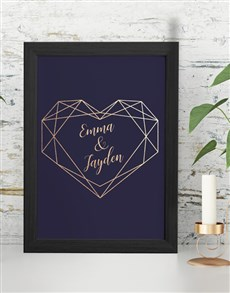 gifts: Personalised Heart Framed Wall Art!
