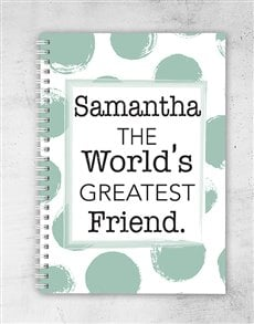 gifts: Personalised Greatest Friend Notebook!