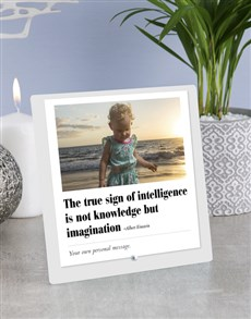 gifts: Personalised Sign of Intelligence Glass Tile !
