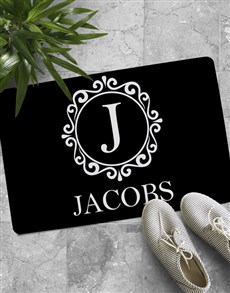 gifts: Personalised Sophisticated Monogram Doormat!
