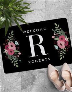 gifts: Personalised Floral Monogram Doormat!