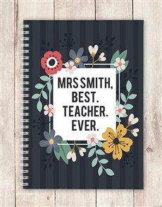 gifts: Personalised Best Teacher Notebook!