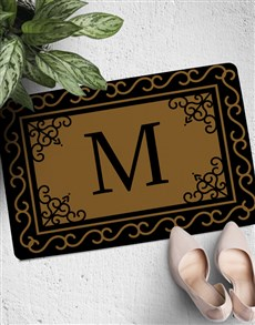 gifts: Personalised Monogram Pattern Doormat!