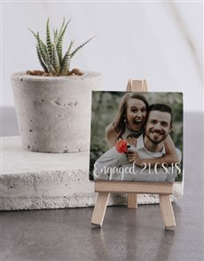 gifts: Personalised Engaged Mini Canvas!