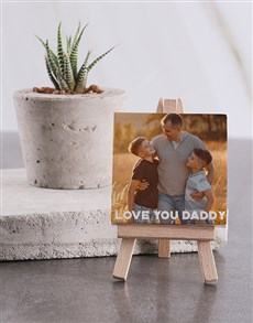 gifts: Personalised Love You Daddy Mini Canvas!