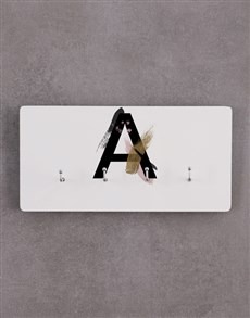 gifts: Personalised Modern Monogram Key Holder!