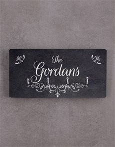 gifts: Personalised Family Name Key Holder!