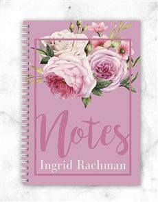 gifts: Personalised Roses Notebook!