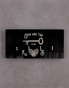 gifts: Personalised Key To My Heart Key Holder!