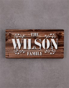gifts: Personalised Family Key Holder!