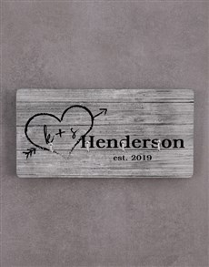 gifts: Personalised Couples Family Name Key Holder!