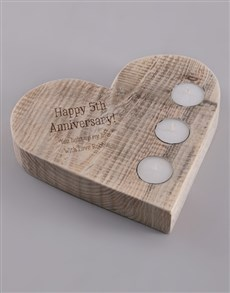 gifts: Personalised Happy Anniversary Candle Holder!