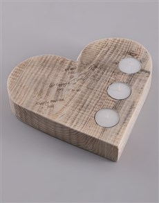 gifts: Personalised Dates Heart Candle Holder!