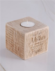 gifts: Personalised Mother Square Candle Holder!