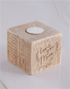 gifts: Personalised Love You Mom Candle Holder!