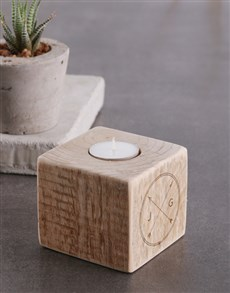 gifts: Personalised Couples Arrow Square Candle Holder !