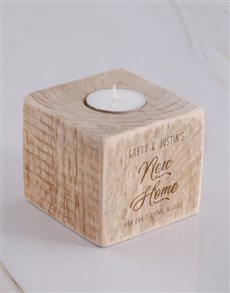 gifts: Personalised New Home Square Candle Holder !